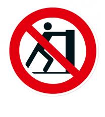 Verbotszeichen Schieben verboten nach DIN EN ISO 7010 - P 017