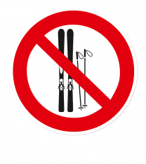 Verbotszeichen Ski abstellen verboten