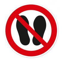 Verbotszeichen Betreten der Fläche verboten nach DIN EN ISO 7010 - P 024