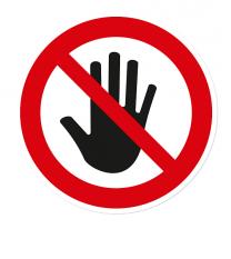Verbotszeichen Zutritt für Unbefugte verboten
