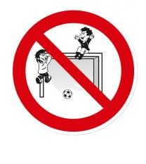 Verbotszeichen Auf Bolzplatztore klettern verboten