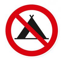 Verbotszeichen Camping verboten