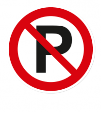 Verbotszeichen Parken verboten