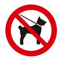 Verbotszeichen Für Hunde verboten – auch an der Leine