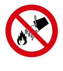 Verbotszeichen Mit Wasser löschen verboten nach DIN EN ISO 7010 - P 011