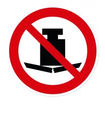 Verbotszeichen Keine schwere Last nach DIN EN ISO 7010 - P 012