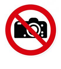 Verbotszeichen Fotografieren verboten nach DIN EN ISO 7010 - P 029