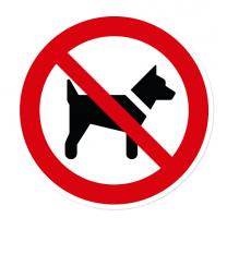 Verbotszeichen Mitführen von Hunden verboten nach DIN EN ISO 7010 - P 021