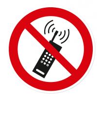 Verbotszeichen Mobilfunk verboten nach BGV A8 - P18