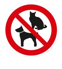 Verbotszeichen Hunde und Katzen verboten
