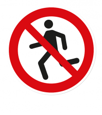 Verbotszeichen Laufen verboten nach DIN ISO 20712 - WSP001