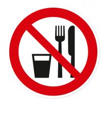 Verbotszeichen Essen und Trinken verboten nach BGV A8 - P19
