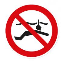 Verbotszeichen Schnorcheln verboten nach DIN ISO 20712 - WSP003
