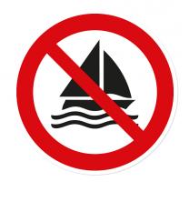 Verbotszeichen Segeln verboten nach DIN ISO 20712 - WSP006