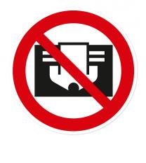 Verbotszeichen Nicht abdecken nach DIN 4844-2