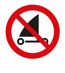 Verbotszeichen Strandsegeln verboten nach DIN ISO 20712 - WSP020