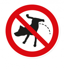 Verbotszeichen Hunde dürfen hier nicht urinieren