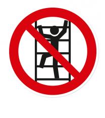 Verbotszeichen Aufsteigen / klettern verboten