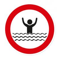 Verbotszeichen Zutritt Verboten - Ertrinkungsgefahr