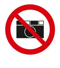 Verbotszeichen Fotografieren ist verboten