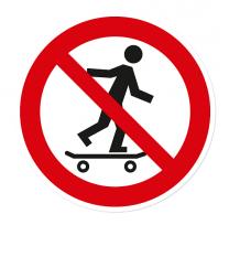 Verbotszeichen Skateboarden verboten
