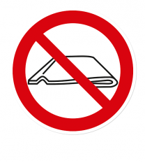 Verbotszeichen Nicht falten nach DIN 4844-2