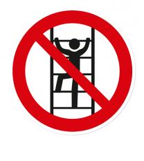 Verbotszeichen Besteigen von Unbefugten ist verboten