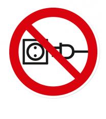 Verbotszeichen Am Kabel ziehen verboten