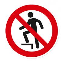 Verbotszeichen Aufsteigen verboten