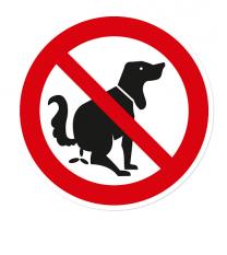 Verbotszeichen Hunde dürfen hier nicht koten / kein Hundeklo