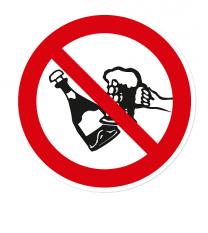 Verbotszeichen Alkohol verboten