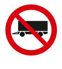 Verbotszeichen Anhänger abstellen verboten
