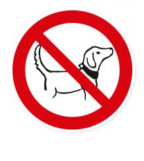 Verbotszeichen Hunde verboten