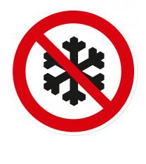 Verbotszeichen Kein Winterdienst