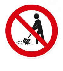 Verbotszeichen Kein Schneeräumen, kein Winterdienst