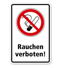 Verbotsschild Rauchen verboten