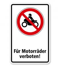 Verbotsschild Für Motorräder verboten