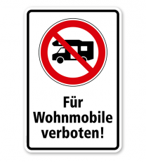 Verbotsschild Für Wohnmobile verboten
