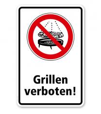 Verbotsschild Grillen verboten