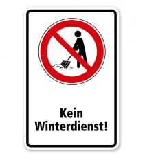 Verbotsschild Kein Winterdienst 2