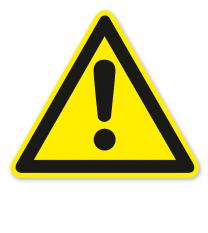 Allgemeines Warnzeichen nach DIN EN ISO 7010 - W 001