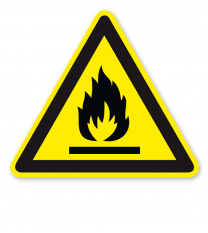 Warnzeichen Warnung vor feuergefährlichen Stoffen nach DIN EN ISO 7010 - W 021