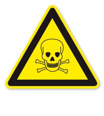 Warnzeichen Warnung vor giftigen Stoffen