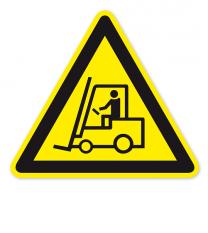 Warnzeichen Warnung vor Flurförderzeugen