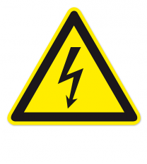 Warnzeichen Warnung vor gefährlicher elektrischer Spannung nach DIN EN ISO 7010 - W 012