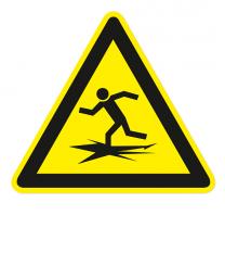 Warnzeichen Warnung vor Eiseinbruch