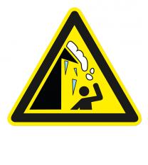 Warnzeichen Warnung vor Dachlawinen und Eiszapfen