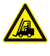 Warnzeichen Warnung vor Flurförderzeugen nach DIN EN ISO 7010 - W 014