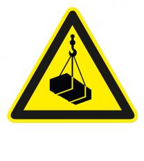 Warnzeichen Warnung vor schwebender Last nach DIN EN ISO 7010 - W 015