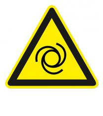 Warnzeichen Warnung vor automatischem Anlauf nach DIN EN ISO 7010 - W 018